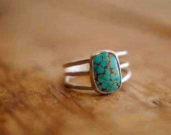 Turquoise 3-Strand Ring | Size 8