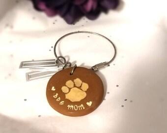 Personalized key chain, paw print key chain, Personalized dog key chain, dog key chain, Dog lover gift personalized , Custom dog key chain