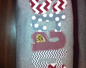 Hand Made Applique State t shirt or sweatshirt in Adult and Children sizes