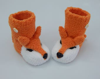 Baby booties , Baby boy, Baby girl, Knitted baby booties, baby booties,Fox booties