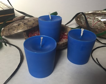 Blue Unscented Soy Wax Votives