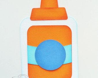 Premade Paper Piecing for Scrapbook Page School Glue Handmade