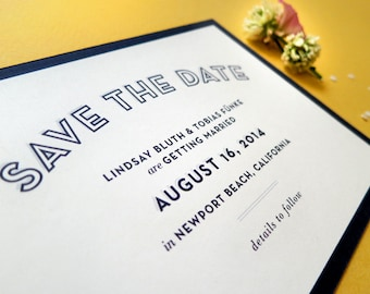 Digital Wedding Save the Date – Art Deco, Vintage Inspired, Simple Wedding, DIY Wedding, Printable Files – Lindsay & Tobias