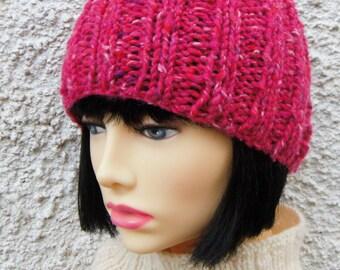 KNITTING PATTERNS Beanie RUSTICO Hat Womans Chunky Beanie  PatternSimple Beanie Pattern/Hat Knit Flat/Girls Hat Pattern/BeginnersHat