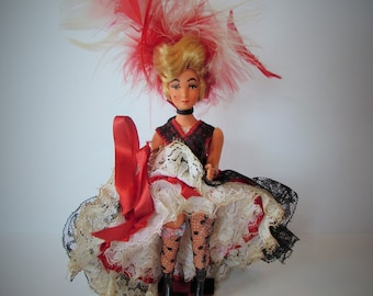 Fantastic French Antique/Vintage Can-Can Dancer Doll.