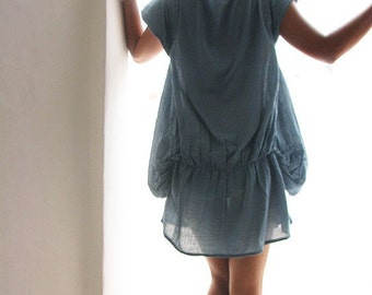 Mini dress Tunic blouse...Blue Gray and more colours available