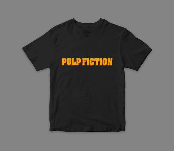 Pulp Fiction Flock Print Quentin Tarantino Movie T Shirts Best Movies Cool Gift Vintage Rare Tee 90s Best Nineties by Etsy