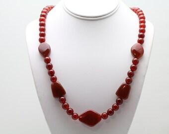 Carnelian Necklace. Listing 482528143