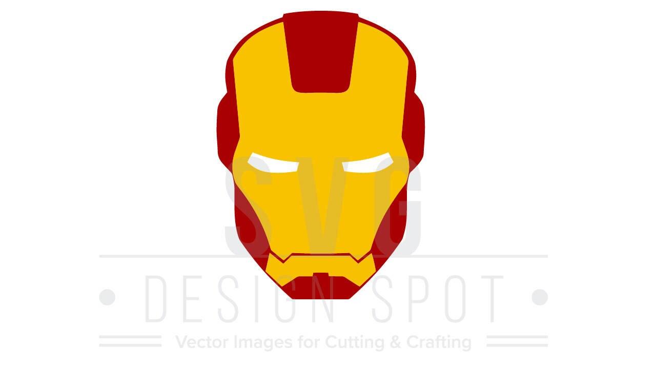 Iron Man Head Face SVG Wall Poster Shirt Art Avengers Super
