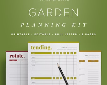Garden Planner, Garden Calendar, Garden Planning Kit, Planting Calendar, Crop Planner, Garden Journal, Outdoor Planner, Household Planner