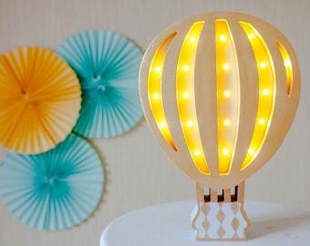 Hot Air Balloon light - Hot Air Balloon lamp - Balloon - Hot Air Balloon nursery - Night light - Nursery lamp - Nursery light