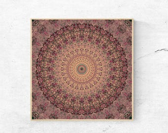 Printable mandala wall art, Mandala wall hanging, digital download art, modern mandala art, Mandala print, Mandala wall decor, download art