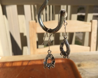 Hand made sterling silver earrings