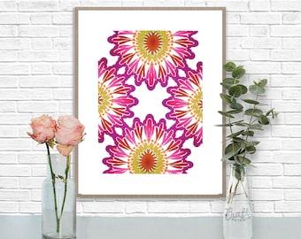 Bali 3 Digital Print • Kaleidoscope Mandala Bright Island Pattern • Instant Download • Home Decor Wall Art • Printable Poster Artwork
