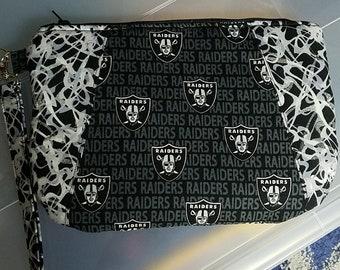 Raiders wristlet purse
