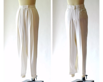vintage Sonia Rykiel white relaxed fit trousers / size small medium