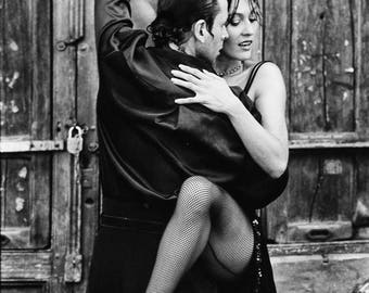 Couple Dancing Tango, Black & White, Latin Dance, Dancing, Romantic, Digital Download Print Image