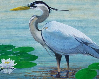 Blue Heron Print Series