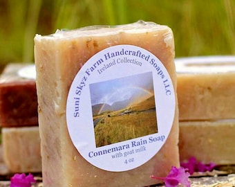 Irish Soap - Connemara Rain Soap - Rain Soap - Spa Soap - Goat Milk Soap - Natural Soap - Handmade Soap - Suni Skyz Farm Soap