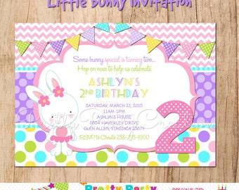 LITTLE BUNNY invitation - YOU print