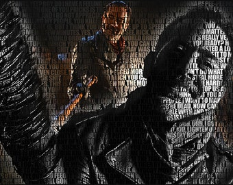 The Walking Dead - Negan First Episode Quotes Poster