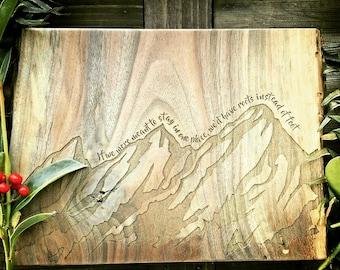 Mountain Range Board, Flatirons, Colorado, Mountains, Free Personalization