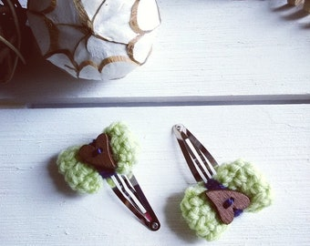 Barrette hair clip wool soft girl