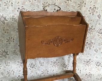 Antique Butler 770 Wood Magazine Stand/Rack,Magazine Holder,Butler Stand,Authentic Butler