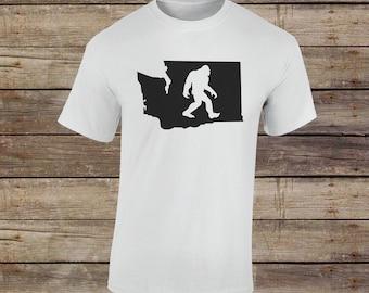 Washington State Sasquatch Hunter - Sasquatch Hunting - Sasquatch Shirt - Seattle Top - Washington - Big Foot Hunting - Big Foot Hunter