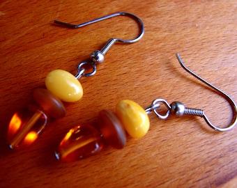 3573 -  Earrings Amber