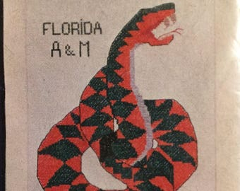 Florida A &M   Counted Cross Stitch  Kit Embroidery  Kit