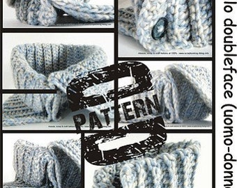 Pattern in PDF Crocheted Reversible Neckwarmer (men-woman-children sizes) it-en language