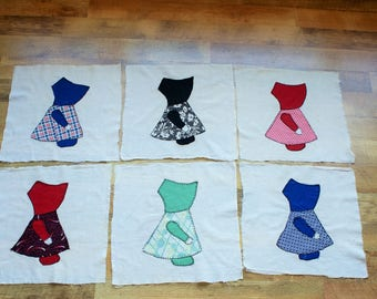 Sunbonnet Sue Vintage Quilt Blocks