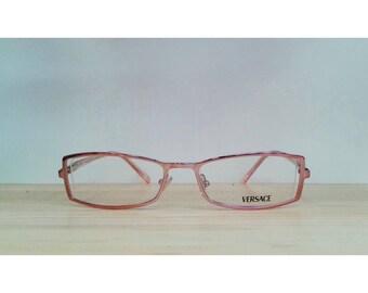 Rectangular vintage eyeglasses Versace 1069-1056 Light pink