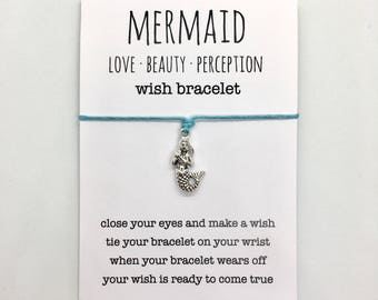 wish bracelet, beach anklet, party favour, friendship bracelet, mermaid jewelry, bridesmaid gift