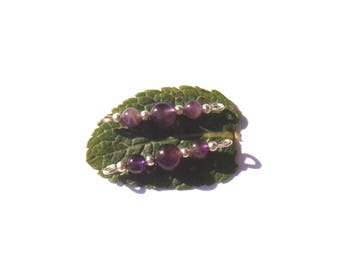 Multicolor Amethyst: 2.9 cm long x 6 mm 2 connectors