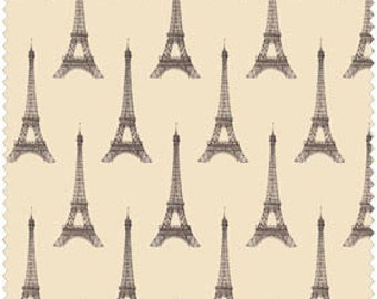 I Dream of Paris by Windham Fabrics - Pela Studio by Wild Apple Eiffel Tower on Tan Quilt Fabric