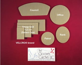 Tan Sew-on VELCRO® brand Set for Attaching Patches to Boy Scout Shirts