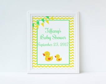 Duck Baby Shower Welcome Sign, Welcome Door Sign, Duck Baby Shower, Instant Download