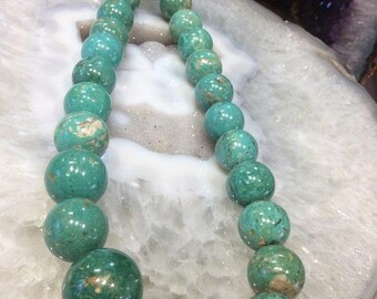 50% Mega Sale 16-20mm Mongolian Round Natural Turquoise Beads #3