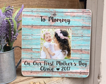 ON SALE Mother's Day Frame gift First Mother's Day Gift  Frame New Mommy New Mom Personalized Picture Frame