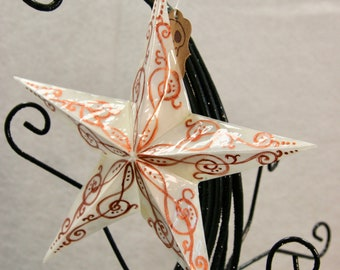 Hand Painted Paper Star Ornament