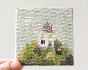 fox house / original painting on canvas