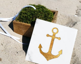 Anchor Ring Box / Nautical Wedding / Ring Bear Box