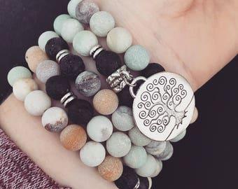 Premium Mala Beads Bracelet - Necklace Combo - 108 Mala Prayer Beads - Yoga Necklace - Zen Jewelry
