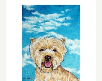 25% off West Highland White Terrier With the Sky Dog Art Print