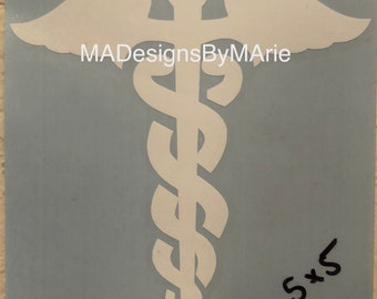 Caduceus Symbol Decal