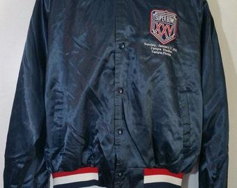 Vintage 1991 Chalk Line Superbowl 25 Jacket Size XL