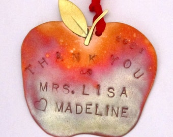 Thank You Apple Ornament - End of Year Teacher Gift