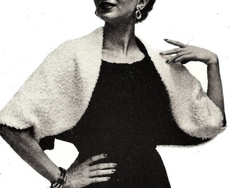 Shrug Bolero Sewing Pattern Easy Vintage PDF 1950's Reproduction Instant Download